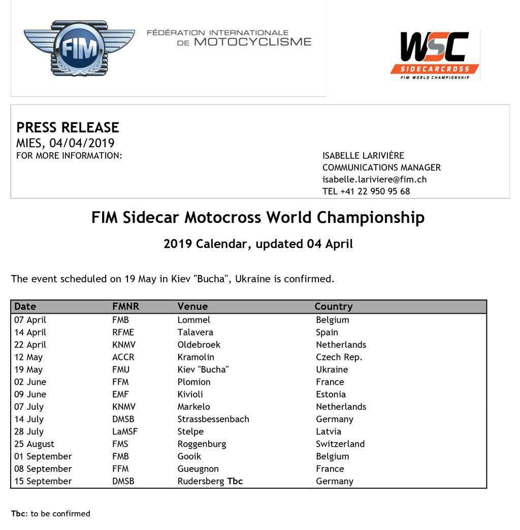 Calendario Mxgp 2020.Sidecarcross Com Sidecar Motocross Racing Worldwide